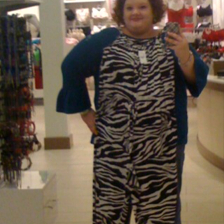 Attack of the zebra jumpsuit